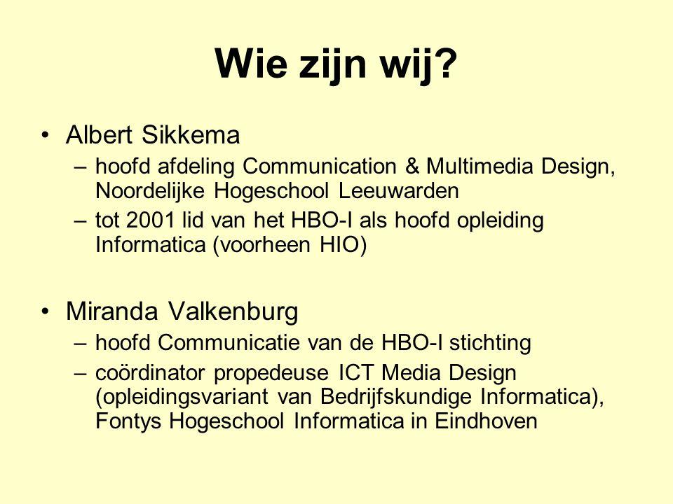 Wie zijn wij Albert Sikkema Miranda Valkenburg
