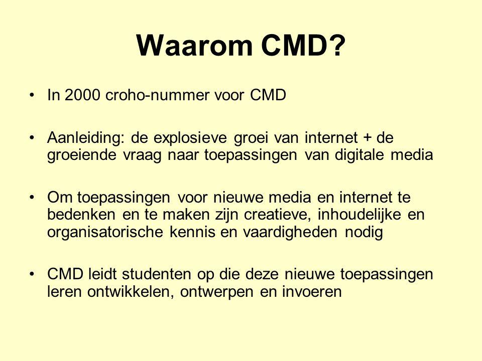 Waarom CMD In 2000 croho-nummer voor CMD