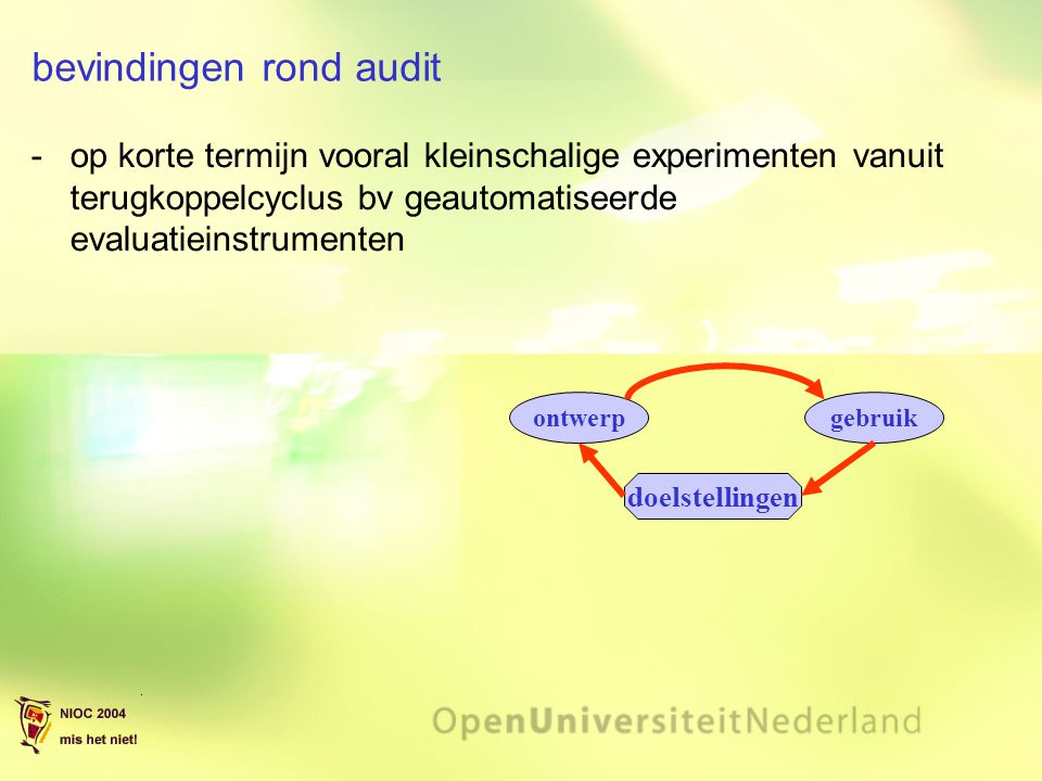 bevindingen rond audit