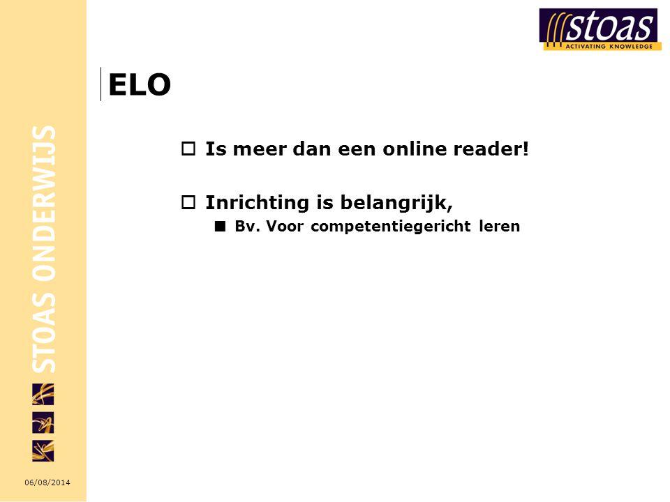 ELO Is meer dan een online reader! Inrichting is belangrijk,