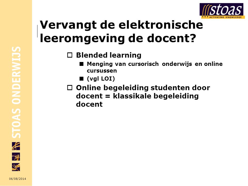 Vervangt de elektronische leeromgeving de docent