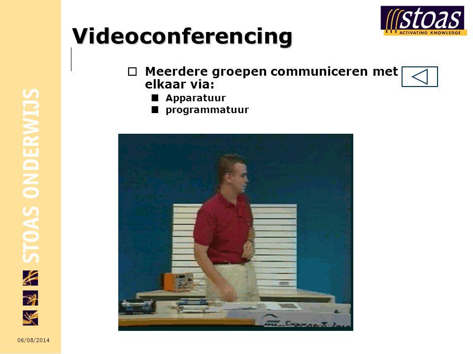 Videoconferencing Meerdere groepen communiceren met elkaar via: