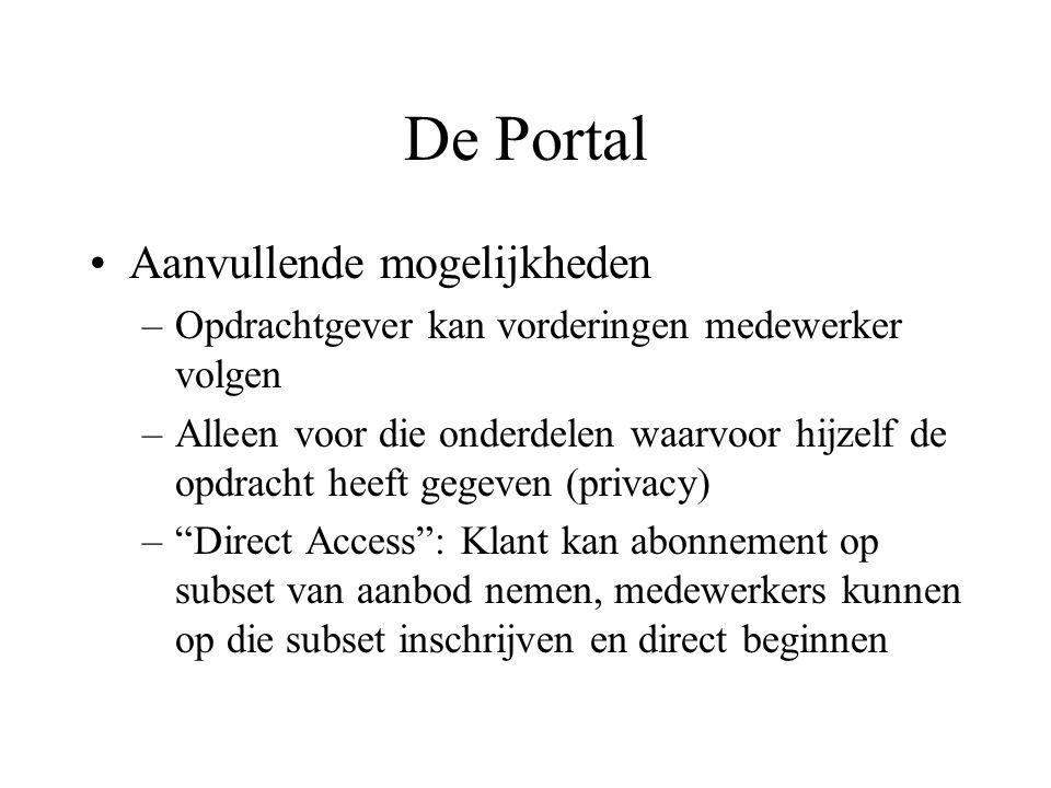 De Portal Aanvullende mogelijkheden