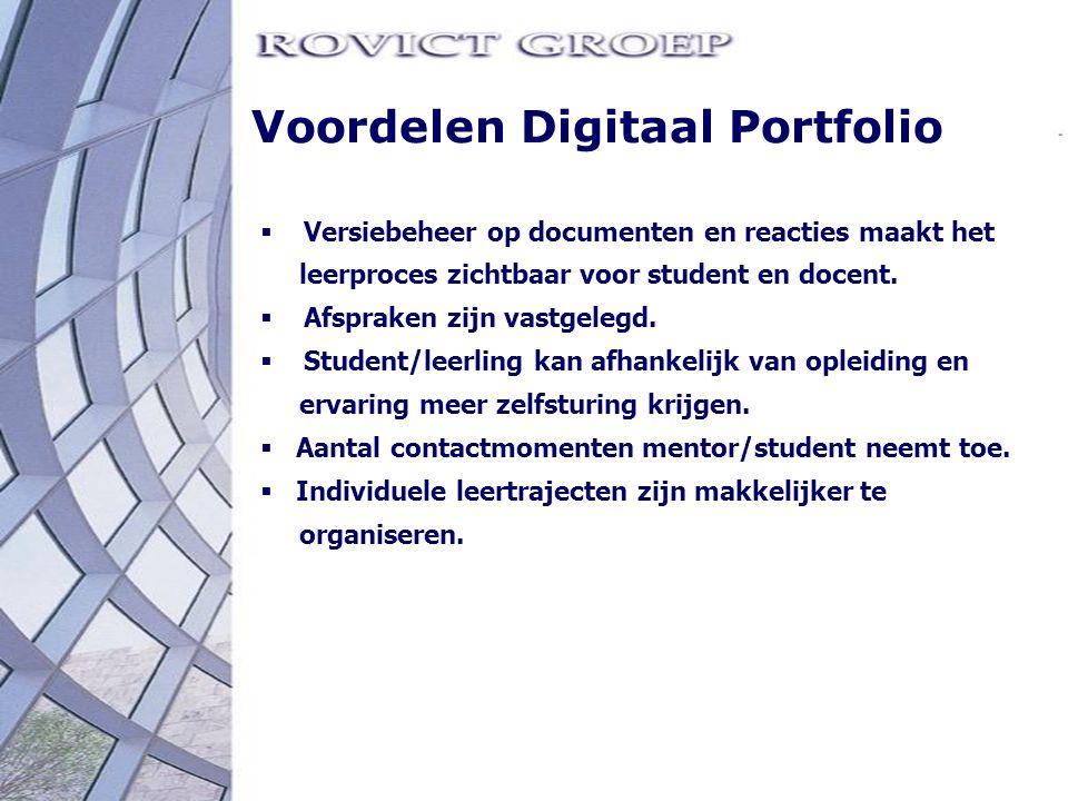 Voordelen Digitaal Portfolio