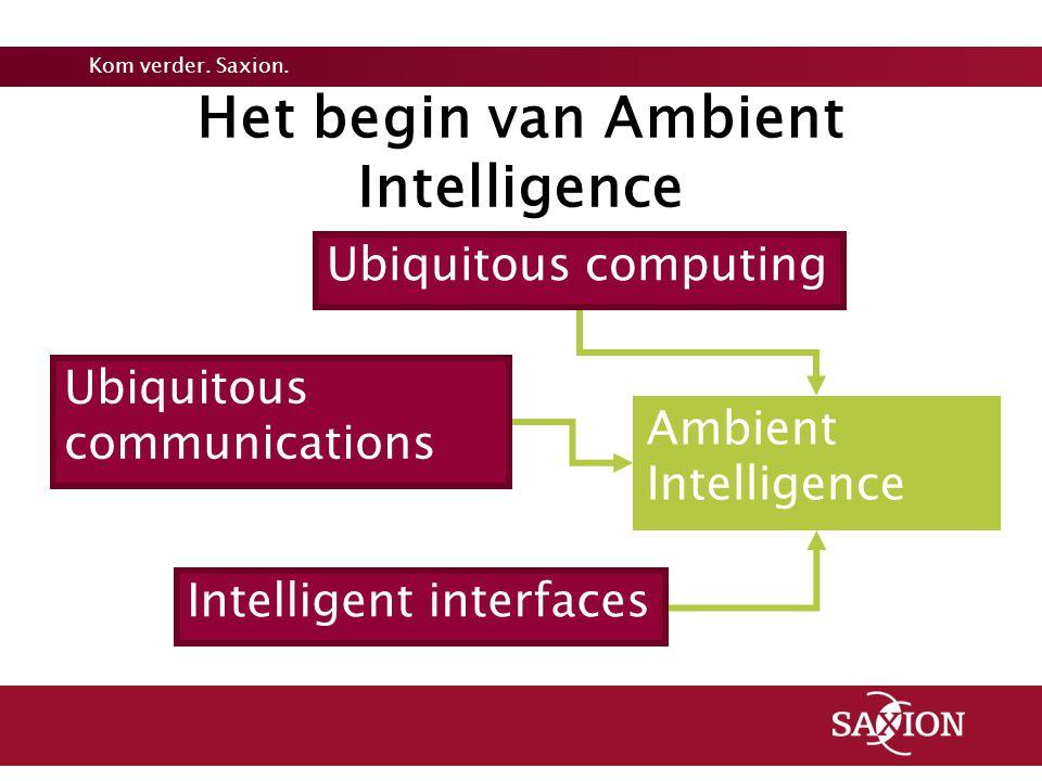 Het begin van Ambient Intelligence