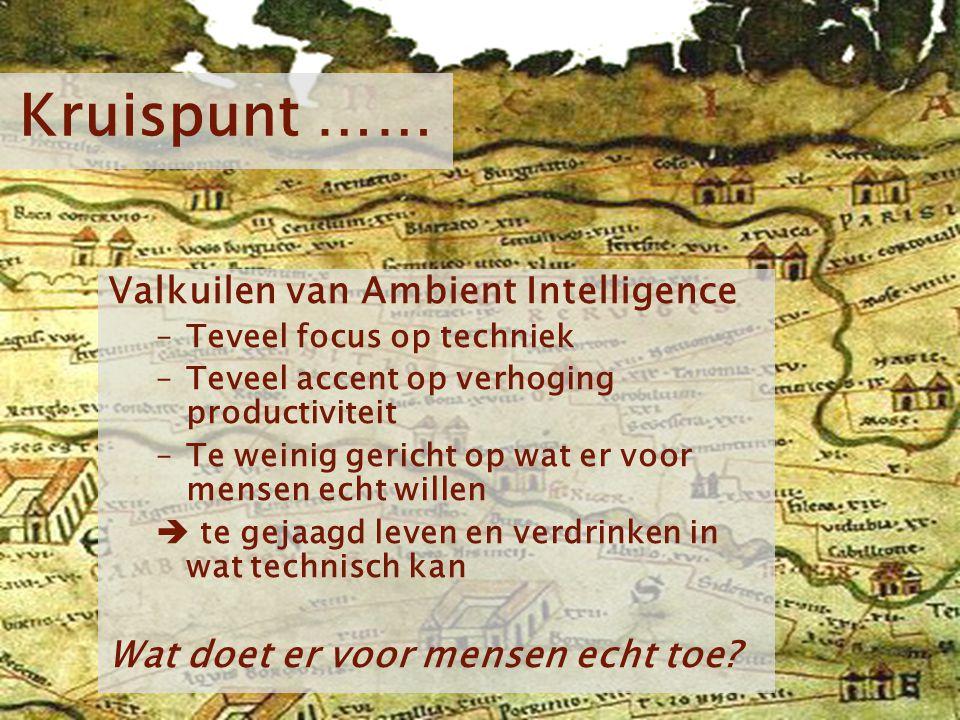 Kruispunt …… Valkuilen van Ambient Intelligence