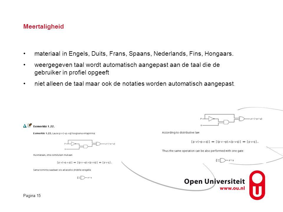 Meertaligheid materiaal in Engels, Duits, Frans, Spaans, Nederlands, Fins, Hongaars.