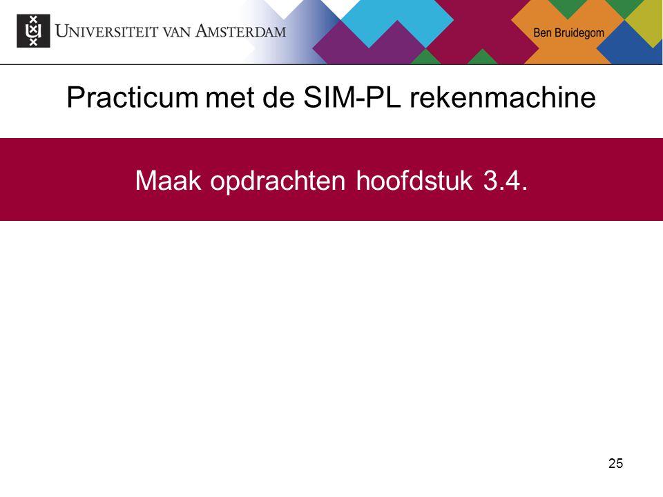 Practicum met de SIM-PL rekenmachine
