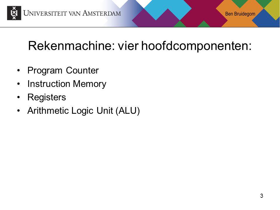 Rekenmachine: vier hoofdcomponenten: