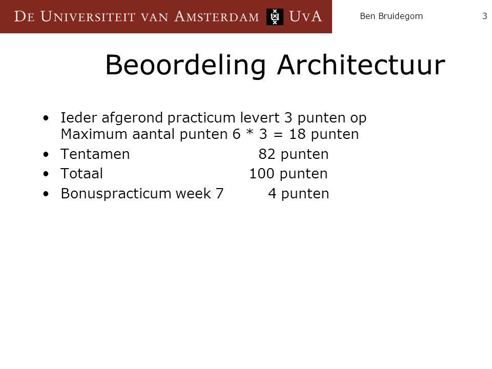 Beoordeling Architectuur