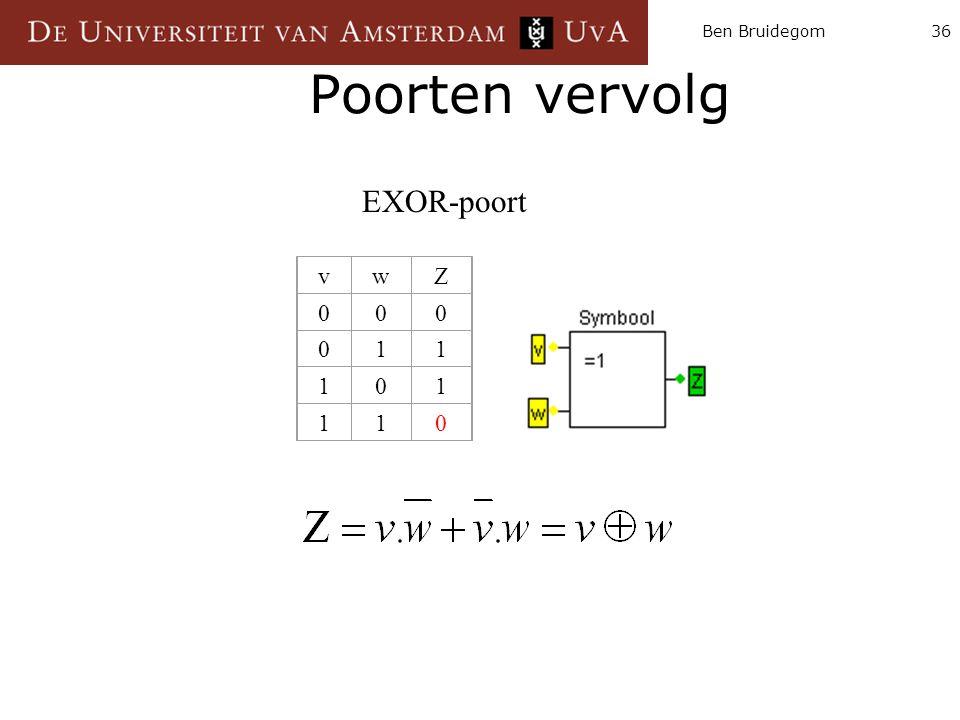 Ben Bruidegom Poorten vervolg EXOR-poort v w Z 1