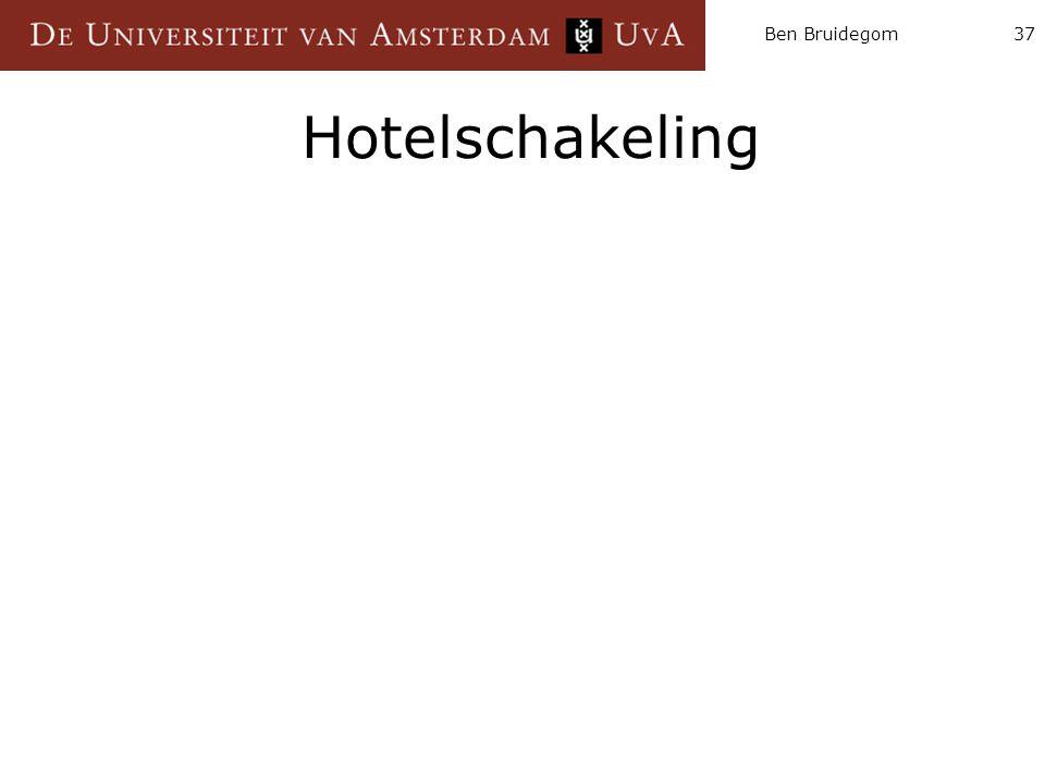 Ben Bruidegom Hotelschakeling