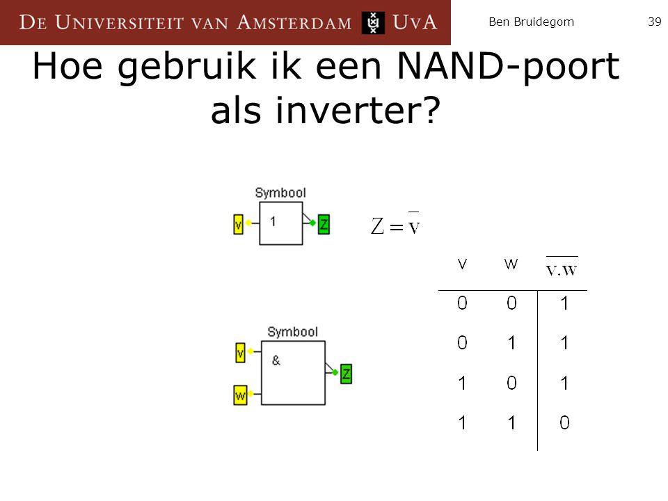 Hoe gebruik ik een NAND-poort als inverter