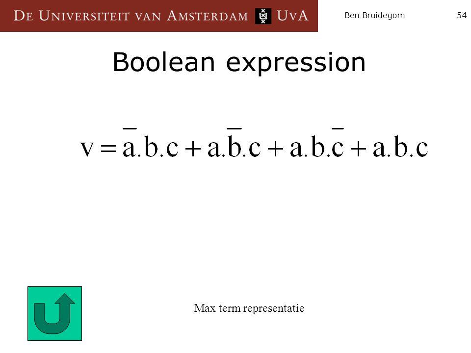 Max term representatie