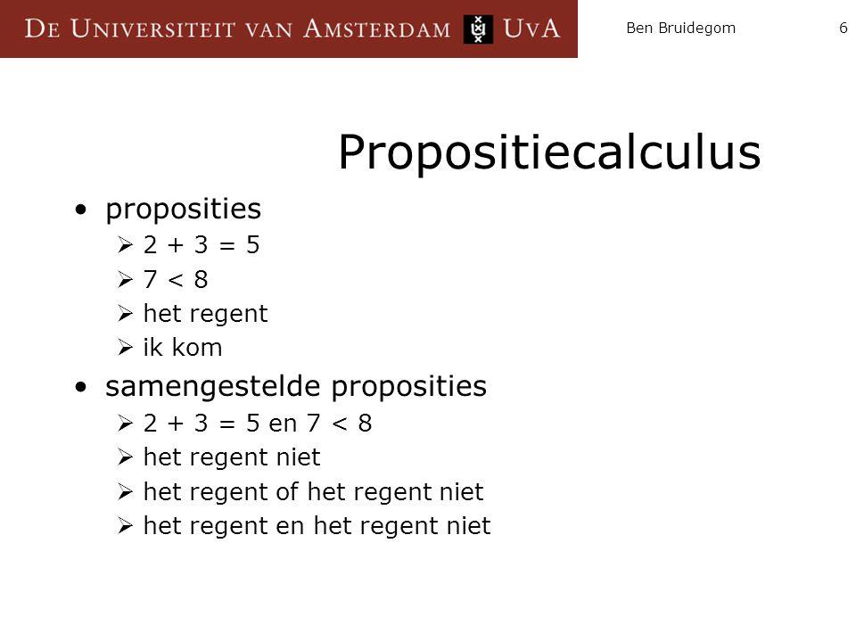 Propositiecalculus proposities samengestelde proposities 2 + 3 = 5