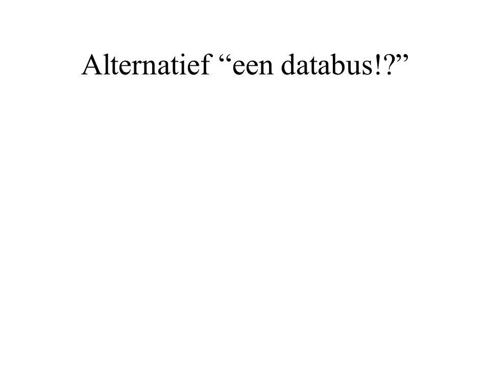 Alternatief een databus!