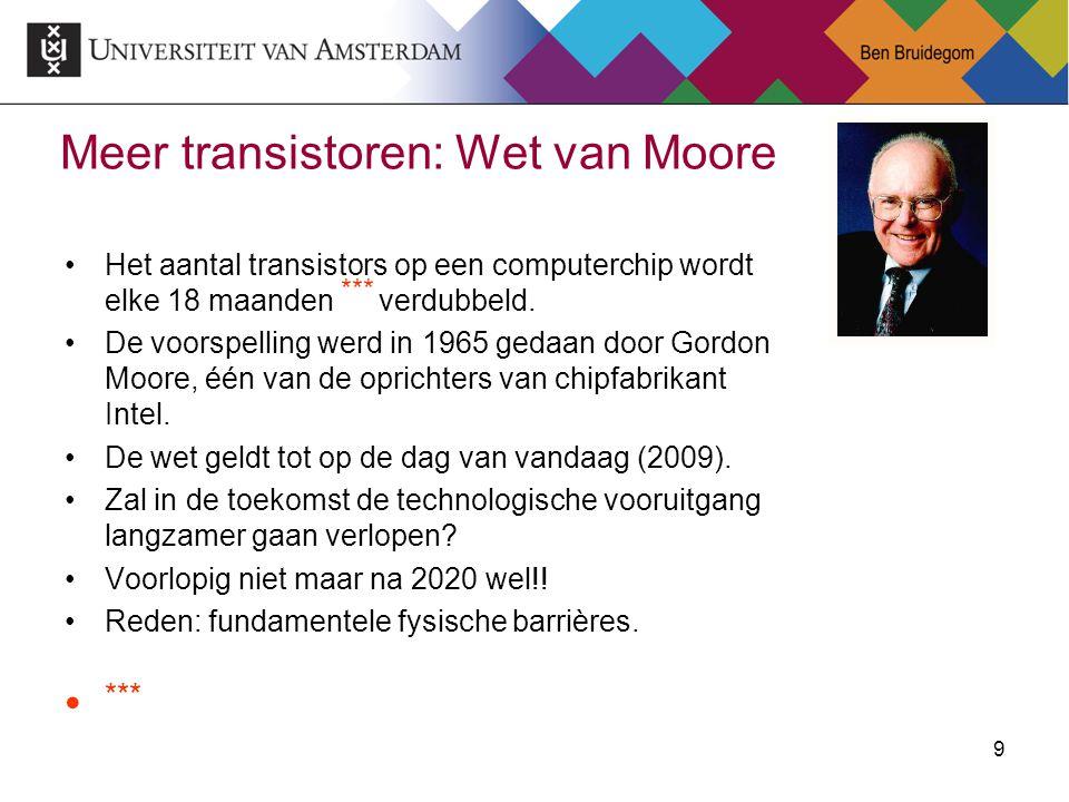 Meer transistoren: Wet van Moore