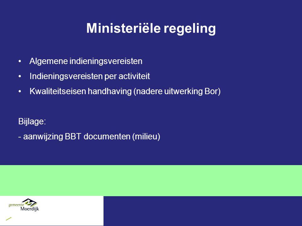 Ministeriële regeling