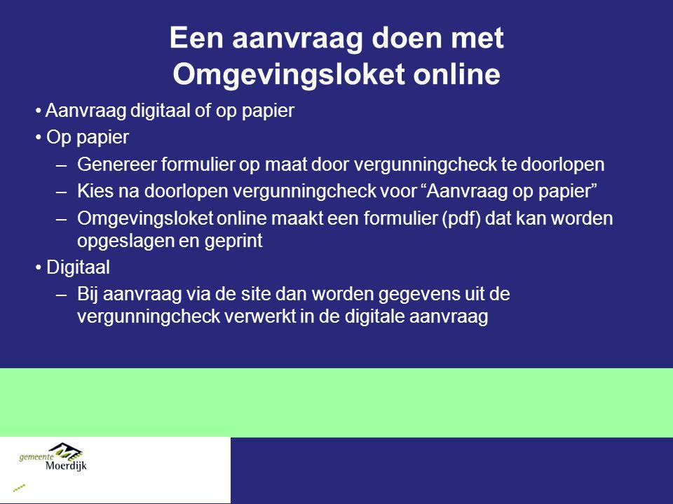 Een aanvraag doen met Omgevingsloket online