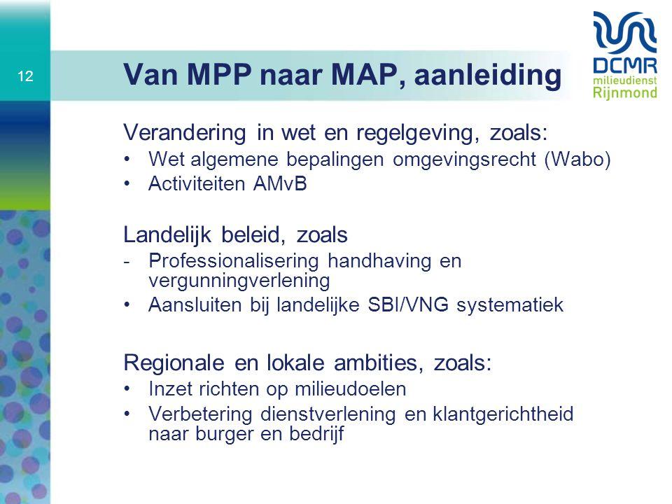Van MPP naar MAP, aanleiding
