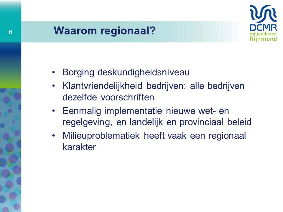 Waarom regionaal Borging deskundigheidsniveau