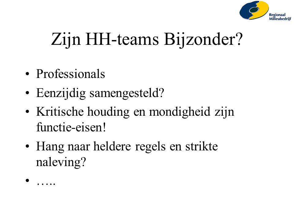 Zijn HH-teams Bijzonder
