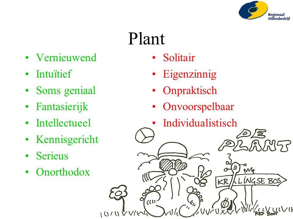 Plant Vernieuwend Intuïtief Soms geniaal Fantasierijk Intellectueel