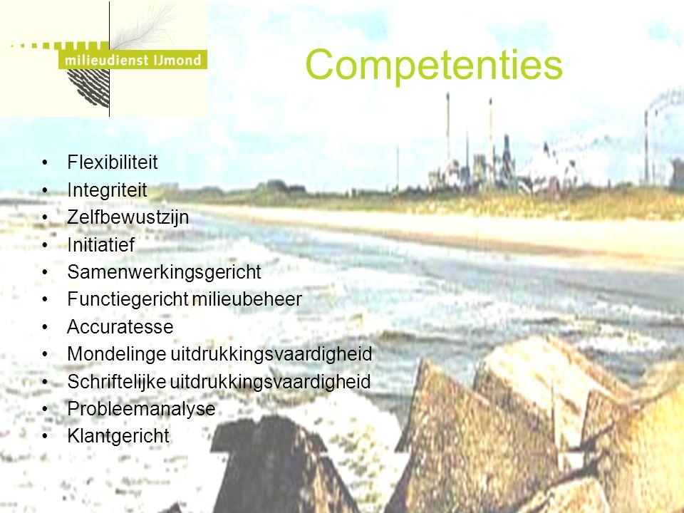 Competenties Flexibiliteit Integriteit Zelfbewustzijn Initiatief
