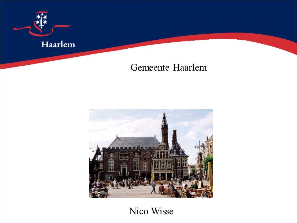 Gemeente Haarlem Nico Wisse