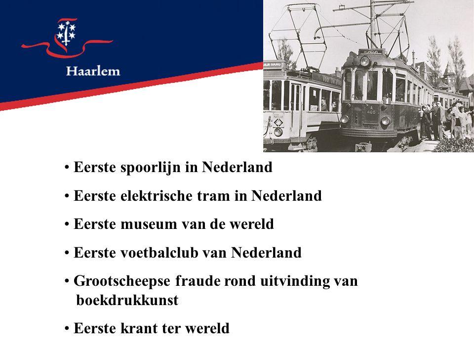 Eerste spoorlijn in Nederland