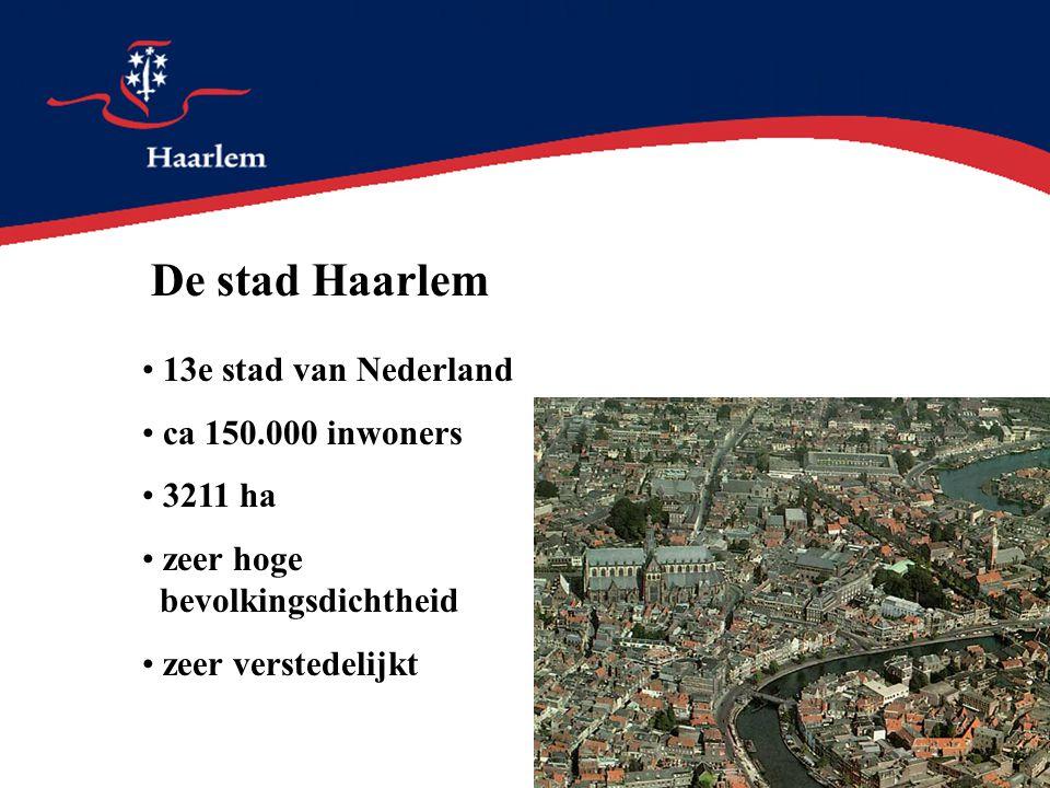 De stad Haarlem 13e stad van Nederland ca 150.000 inwoners 3211 ha