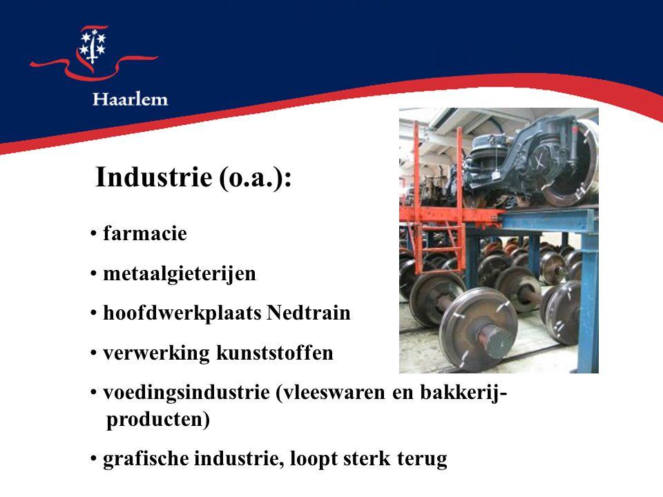 Industrie (o.a.): farmacie metaalgieterijen hoofdwerkplaats Nedtrain