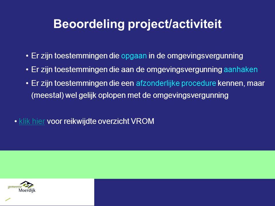 Beoordeling project/activiteit