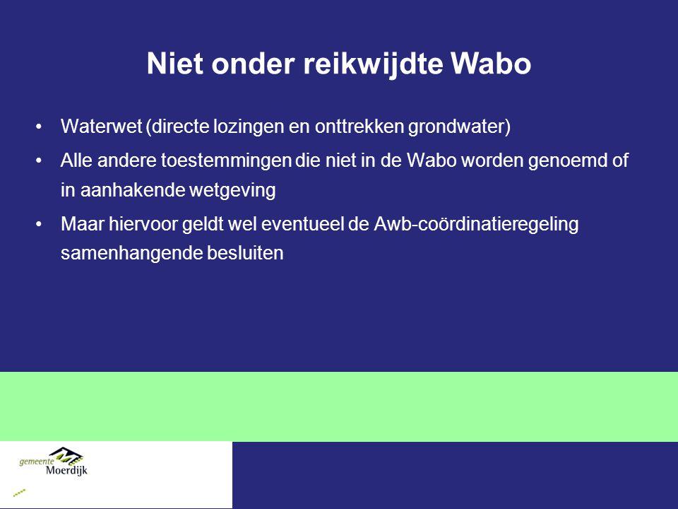 Niet onder reikwijdte Wabo