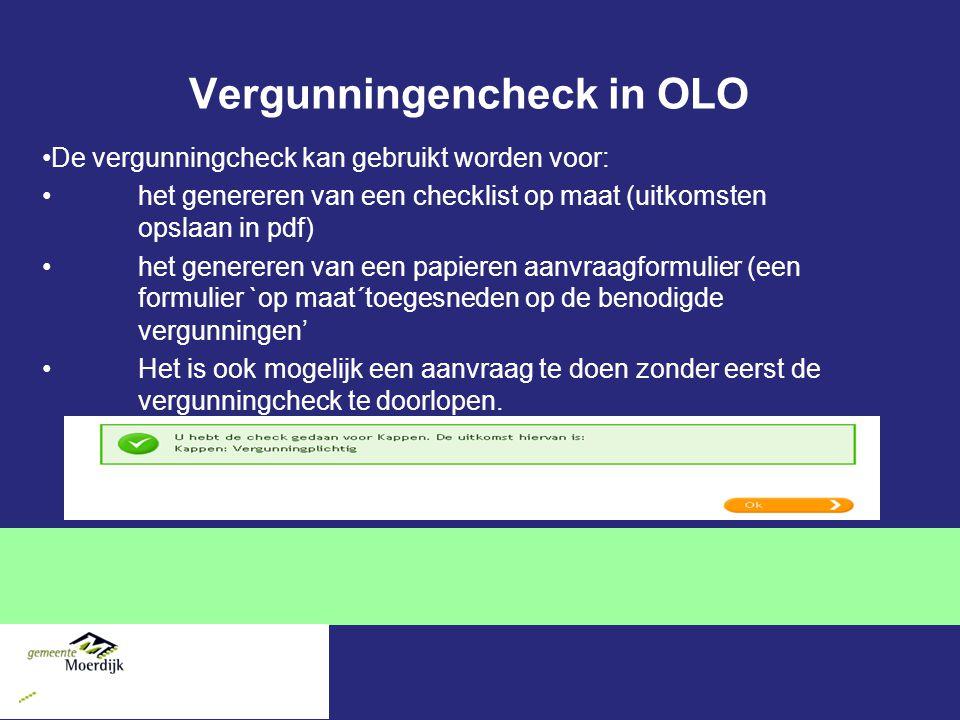 Vergunningencheck in OLO