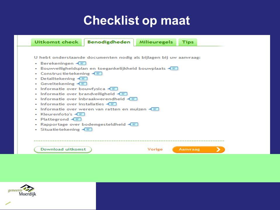 Checklist op maat 44