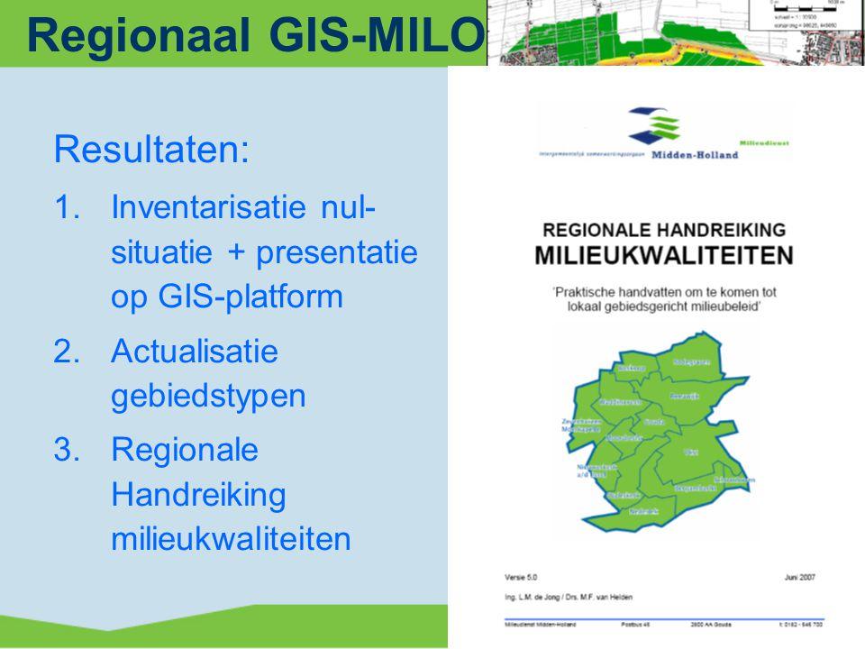 Regionaal GIS-MILO-traject