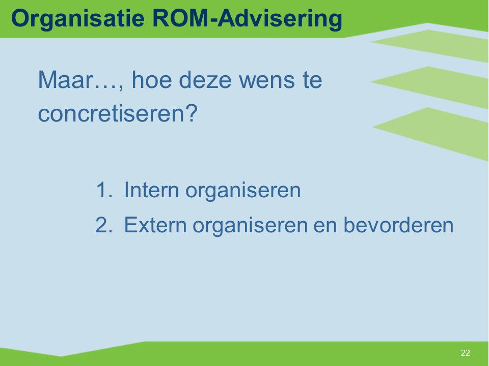 Organisatie ROM-Advisering
