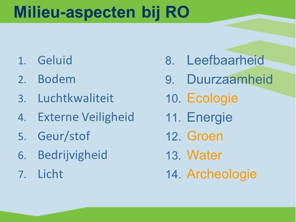 Milieu-aspecten bij RO