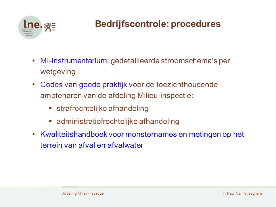 Bedrijfscontrole: procedures