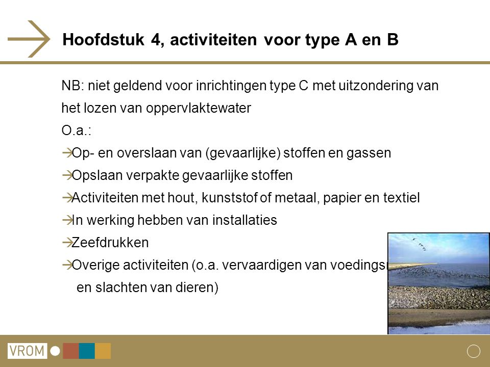 Hoofdstuk 4, activiteiten voor type A en B
