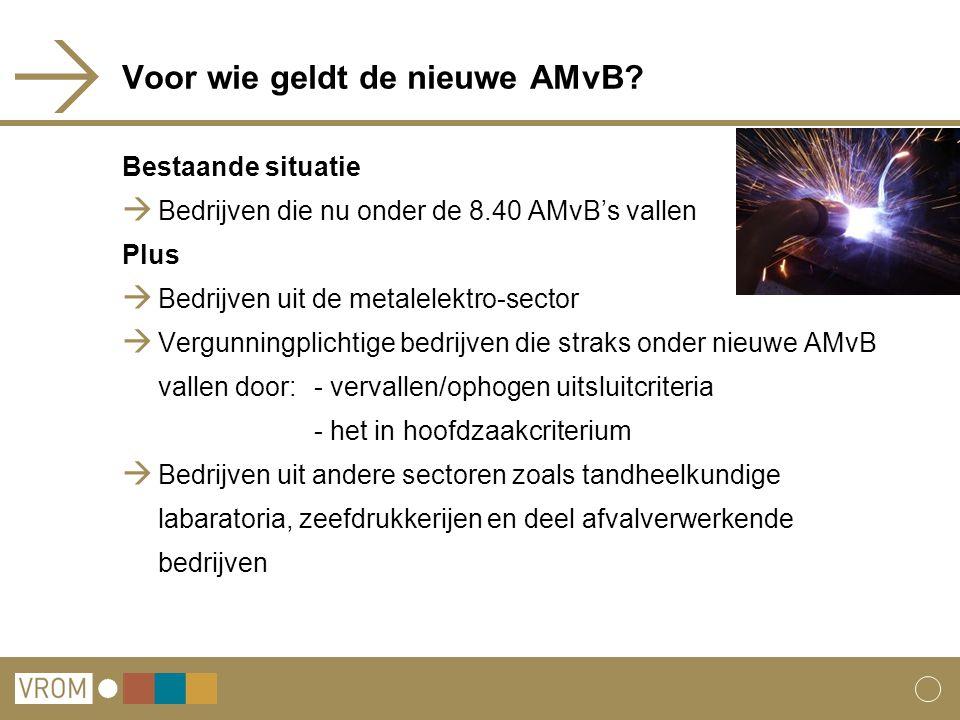 Voor wie geldt de nieuwe AMvB