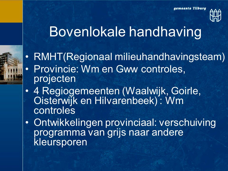 Bovenlokale handhaving