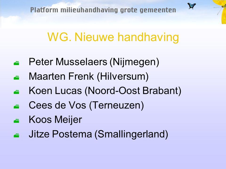 WG. Nieuwe handhaving Peter Musselaers (Nijmegen)