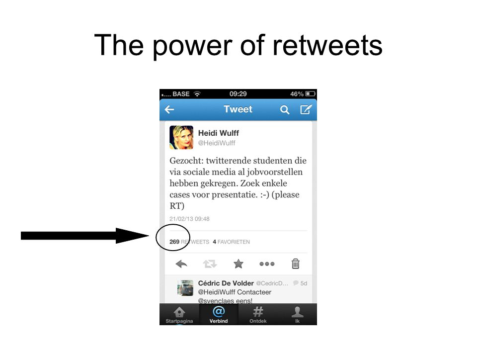 The power of retweets