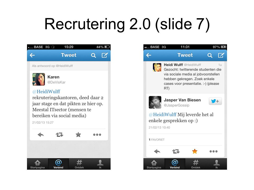 Recrutering 2.0 (slide 7)