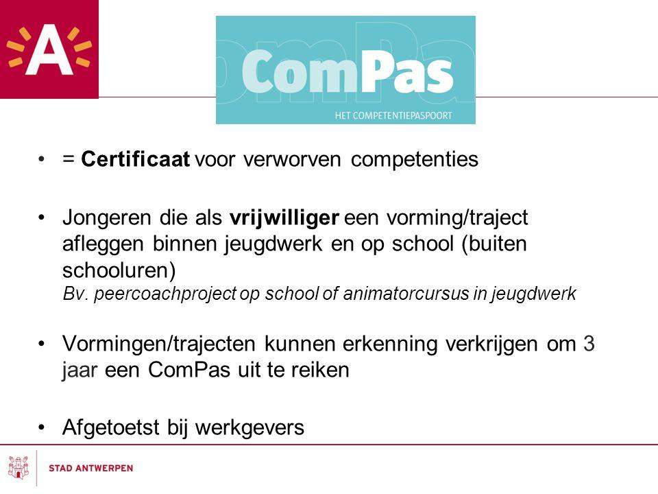 = Certificaat voor verworven competenties