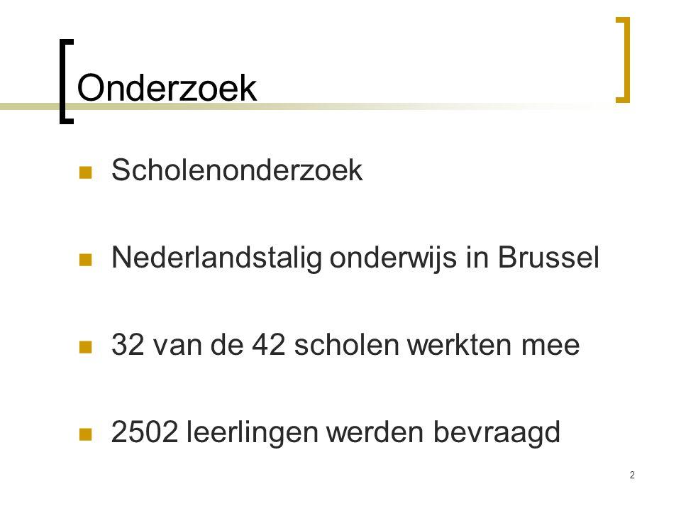 Onderzoek Scholenonderzoek Nederlandstalig onderwijs in Brussel