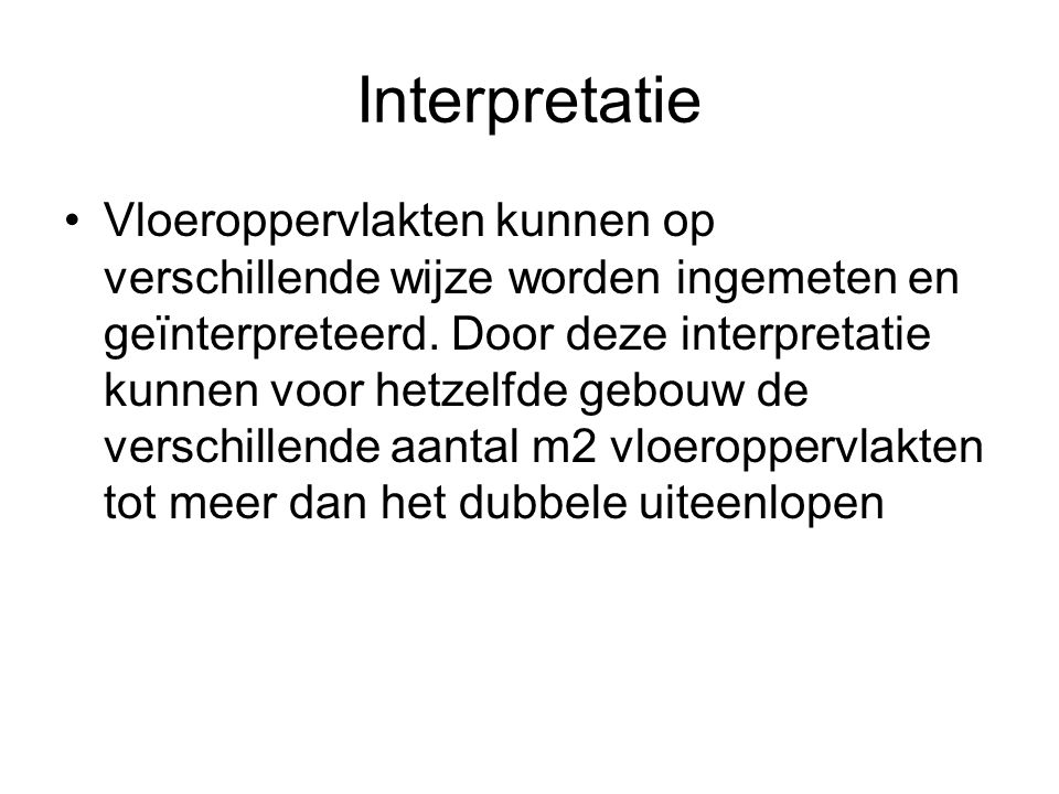 Interpretatie