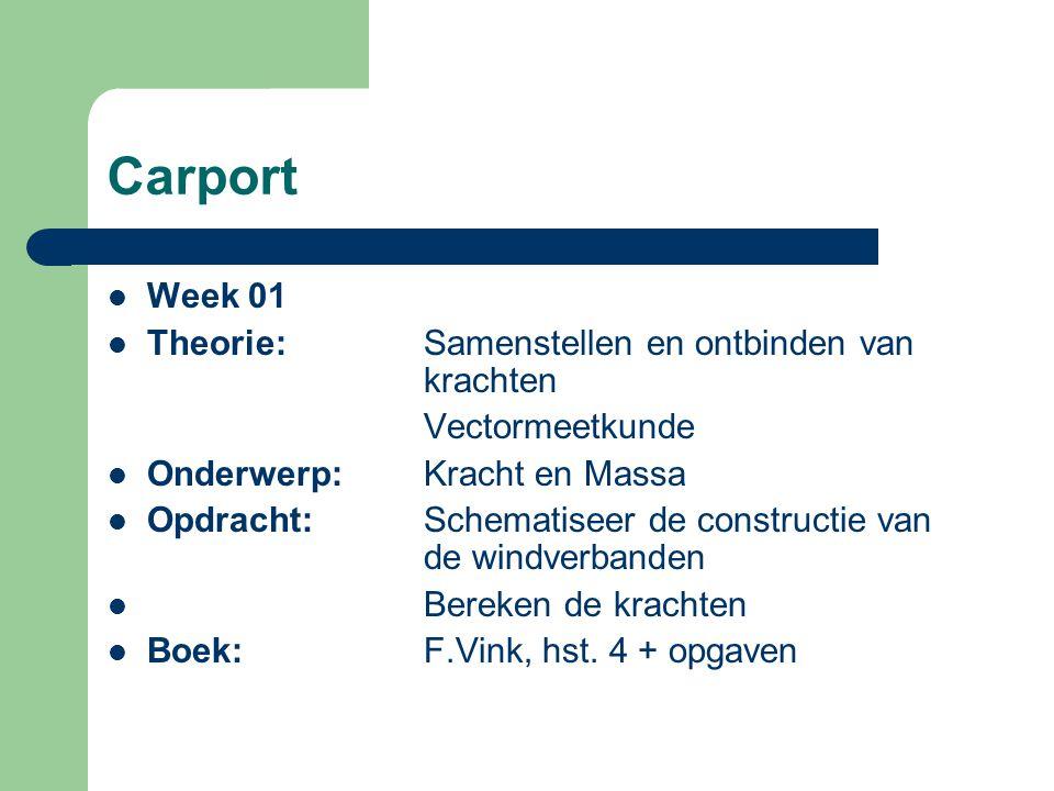 Carport Week 01 Theorie: Samenstellen en ontbinden van krachten